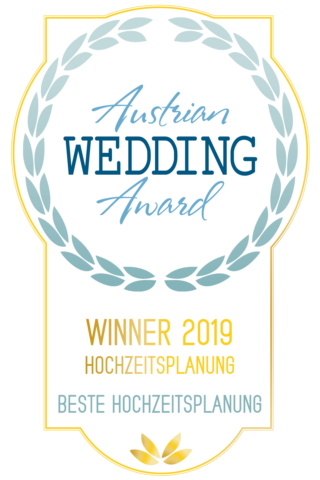 Austrian Wedding Award Badge Beste Hochzeitsplanung 2019